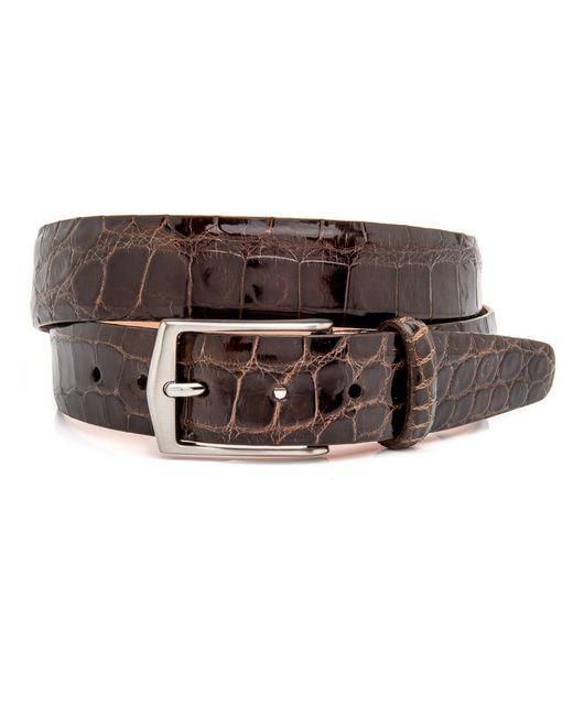 Martin Dingman - Brown Chocolate Alligator Julian Belt for Men - Lyst