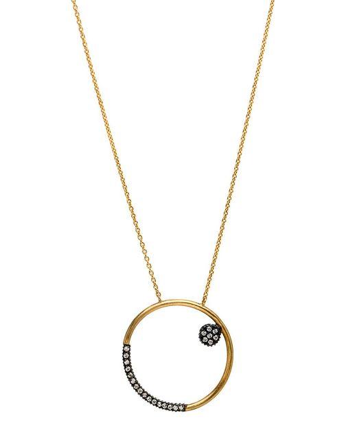 Yossi Harari   Metallic Lilah Hoop Drop Pendant Necklace   Lyst