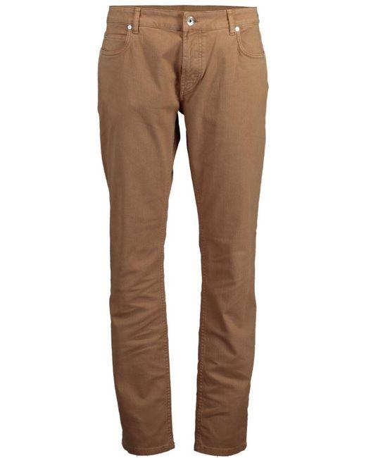 Eleventy Black Tan 5 Pocket Pant for men