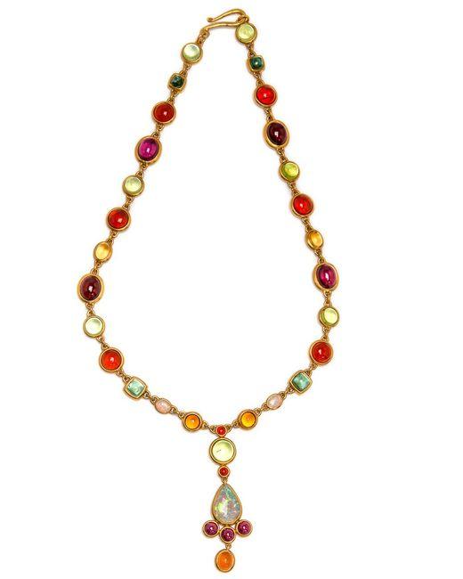 Darlene De Sedle - Multicolor Cabochon Stone Necklace With Opal Pendant - Lyst