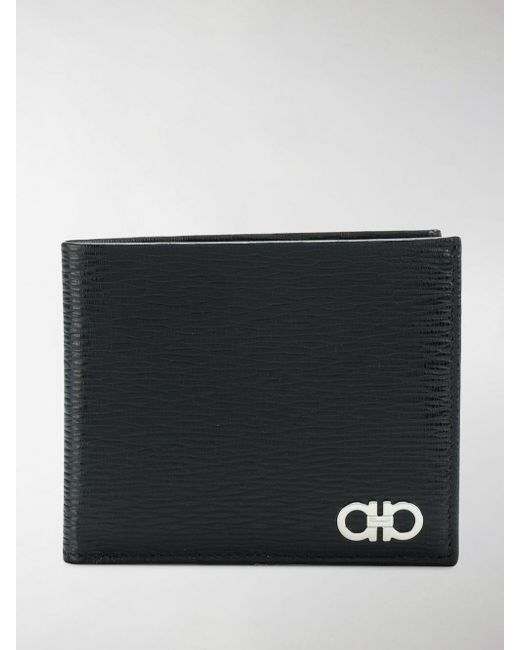 Ferragamo - Black Double Gancio Wallet for Men - Lyst