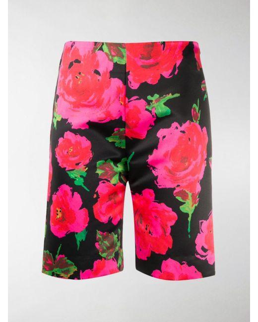 Richard Quinn Pink Floral Print Bermuda Shorts