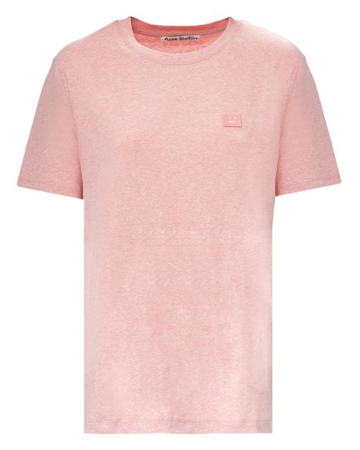 Acne | Pink Standard Face Cotton Tee | Lyst
