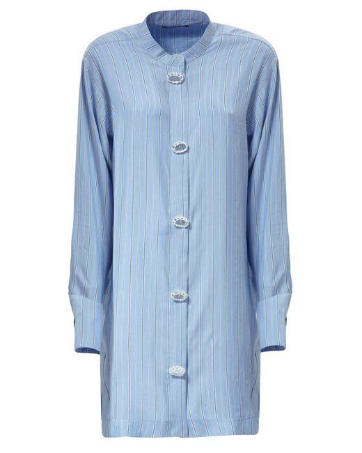 J.W.Anderson   Blue Oversize Striped Silk Dress   Lyst