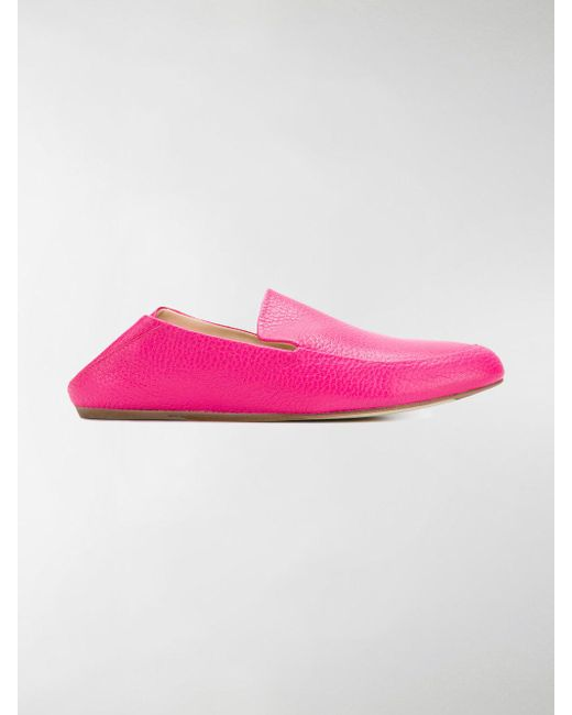 casual grained loafers - Pink & Purple Lanvin SSgY9jh5X
