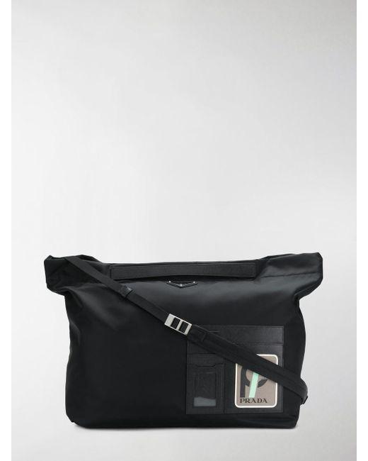 Prada - Black And Grey Technical Shoulder Bag for Men - Lyst