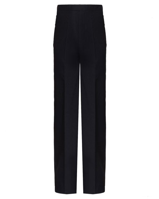 Rick Owens   Black Deconstructed Wool Blend Trousers for Men   Lyst