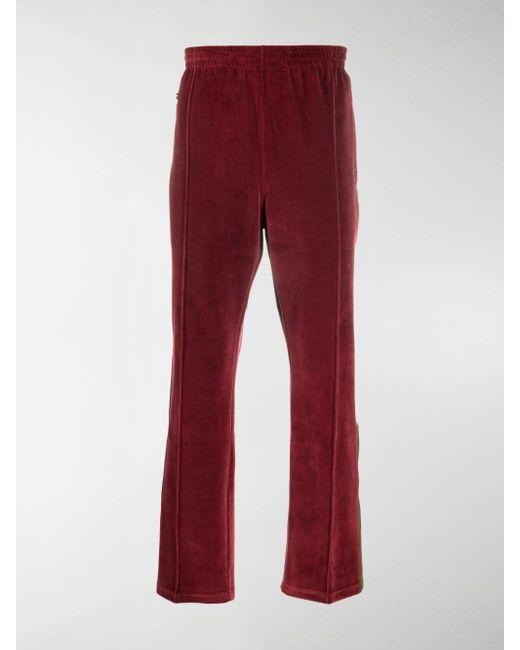 Pantaloni sportivi dritti di Needles in Red da Uomo