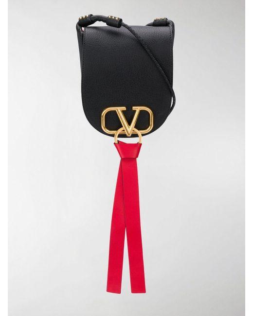Valentino Black Garavani Vring Satchel