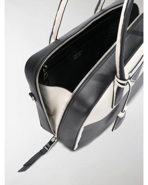 42aacff393dd ... canada prada black structured tote bag lyst check out 52357 0353a 081c5  b8fd5