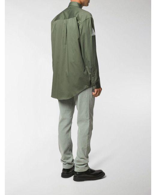 Camicia con applicazione di Heron Preston in Green da Uomo