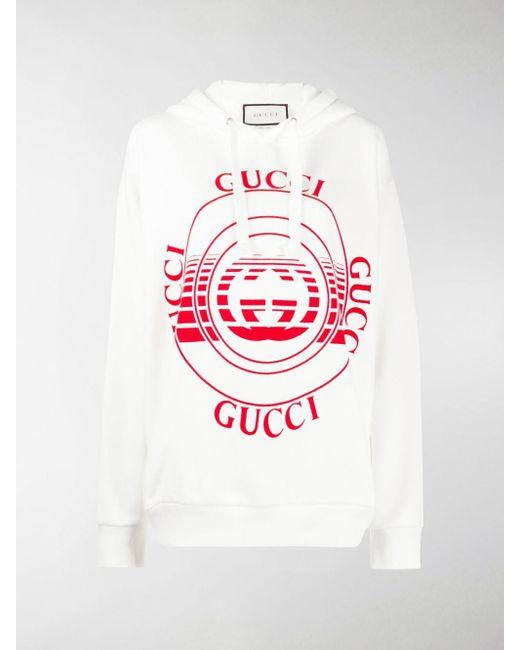 Felpa con maniche a spalla bassa di Gucci in Multicolor