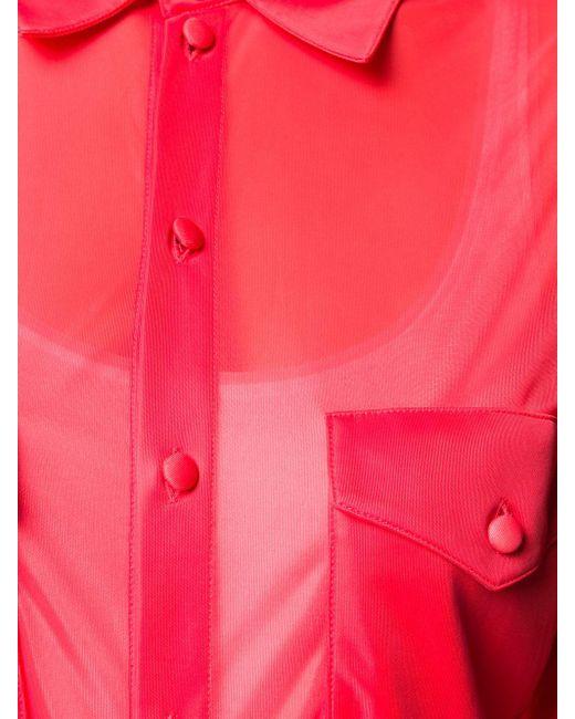 Camicia semi trasparente di Kwaidan Editions in Multicolor