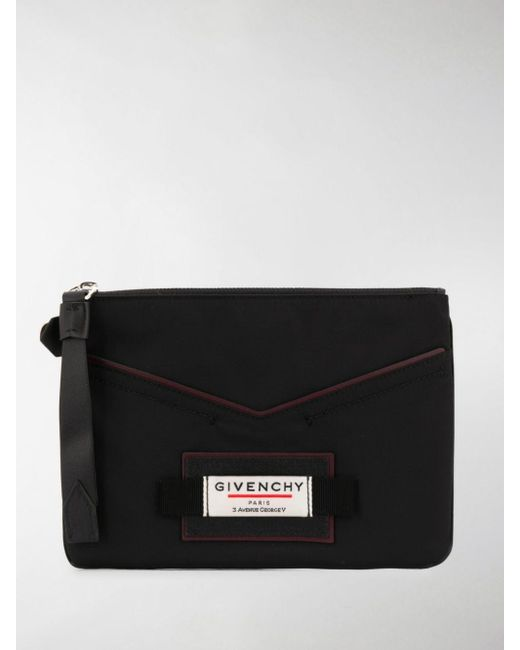 Givenchy Black Small Zipped Clutch for men