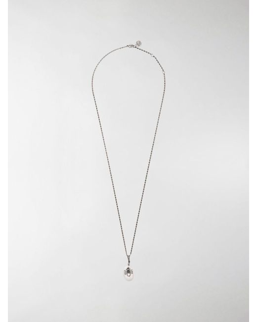 Alexander McQueen Metallic Spider Pendant Necklace