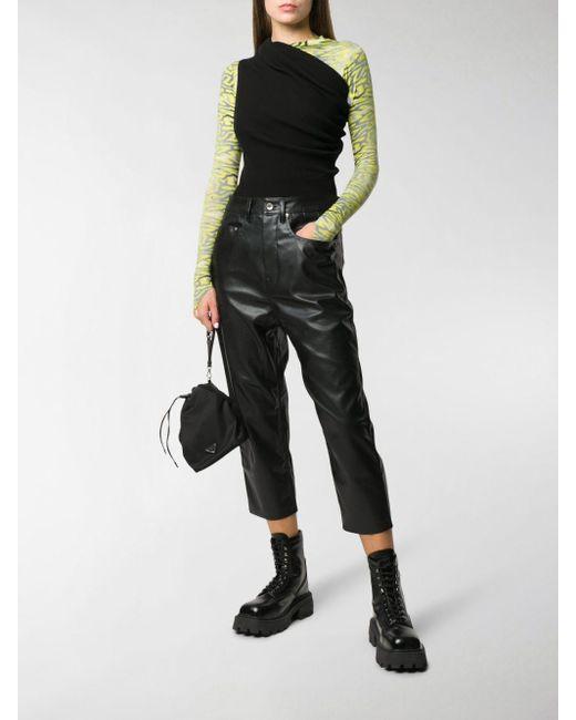Pantaloni crop di Rick Owens Drkshdw in Black
