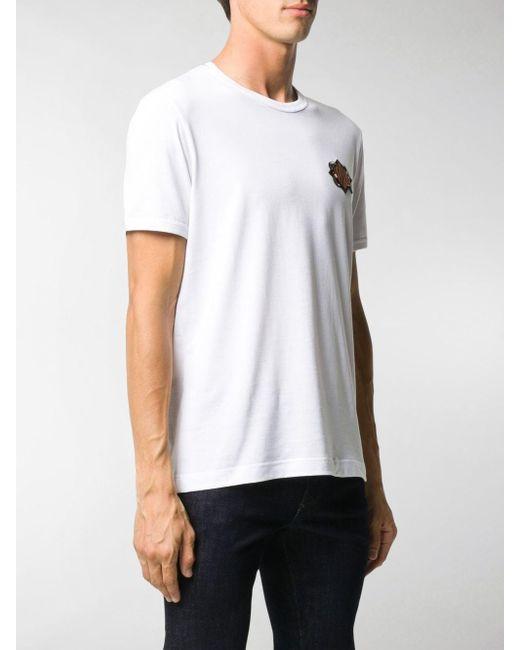 T-shirt DG King di Dolce & Gabbana in White da Uomo