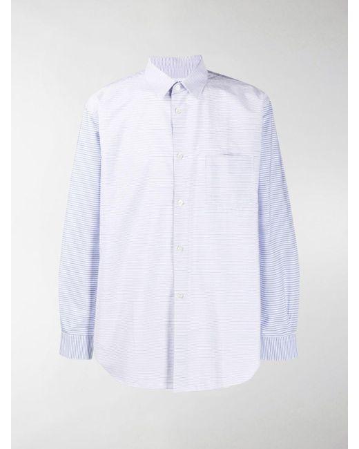 Camicia a righe di Comme des Garçons in White da Uomo