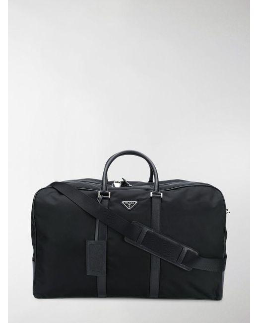 Prada - Black Shell Duffle Bag for Men - Lyst