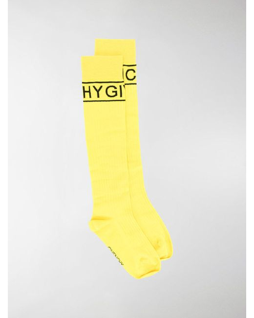 logo pattern socks - Yellow & Orange Givenchy Clearance Top Quality PLZEl
