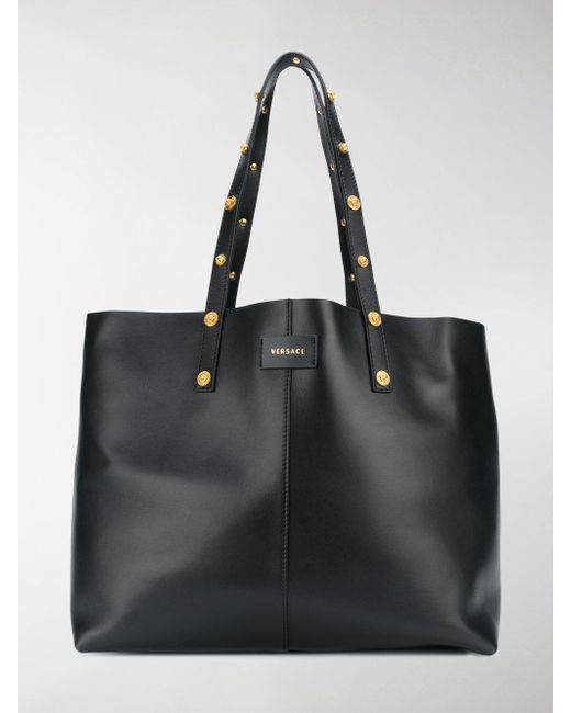 Versace - Black Oversized Tote - Lyst ... 869e998a44