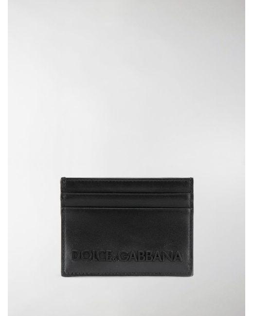 932c5998f1 Dolce & Gabbana - Black Logo Cardholder for Men - Lyst ...
