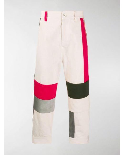 Diesel Red Tag Multicolor Colour-block Jeans for men