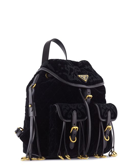 Prada Velvet Backpack