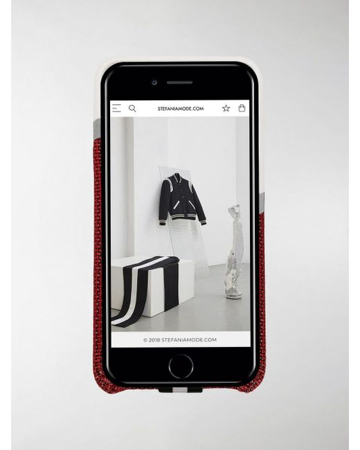 Cover Lips per iPhone 8 di Off-White c/o Virgil Abloh in Rosso - Lyst