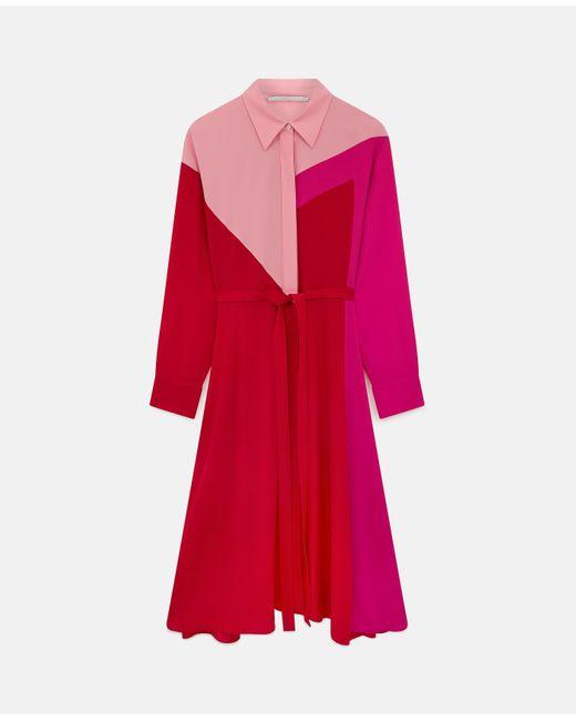 Stella McCartney ミア シルク ドレス Red