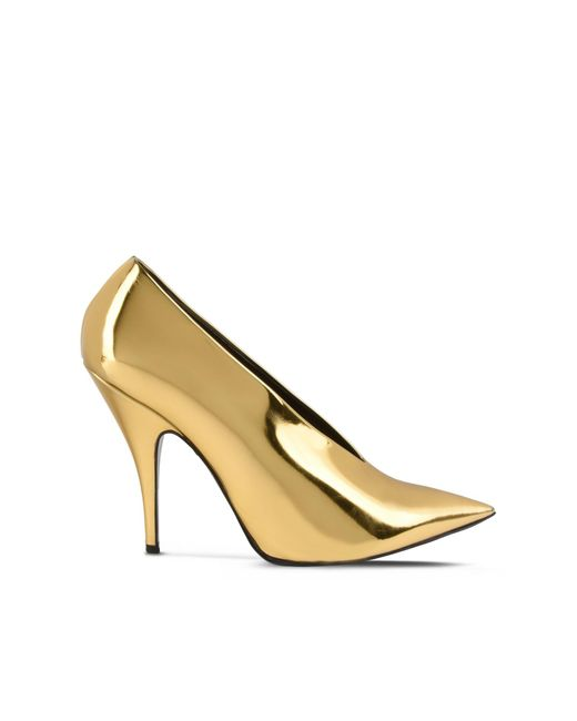 Stella McCartney | Metallic Gold Pointed Pumps | Lyst