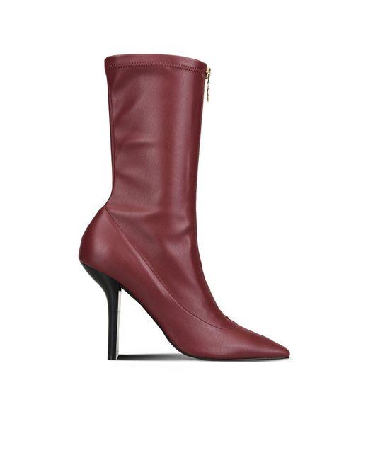 Stella McCartney | Purple Bordeaux Matt Alter Nappa High Ankle Boots | Lyst