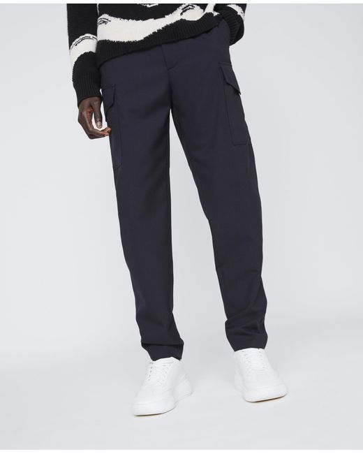 Stella McCartney Gerrit Wool Trousers in Blue für Herren