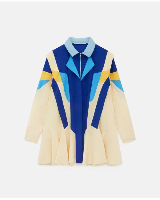 Stella McCartney モニカ シルク ドレス Blue