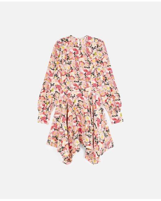 Stella McCartney フェリシティー シルク ドレス Pink