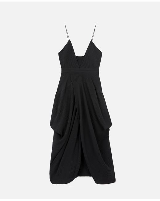 Stella McCartney ジェンナ シルク ドレス Black