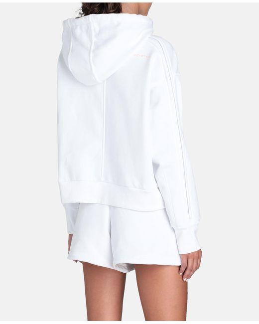 Adidas By Stella McCartney ホワイト クロップド フーディ White