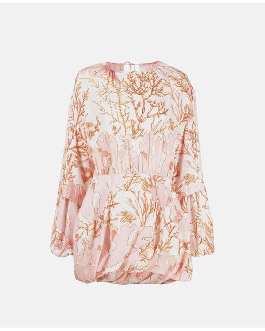 Stella McCartney アマンダ シルク ドレス Pink
