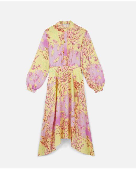 Stella McCartney アリサ シルク ドレス Pink