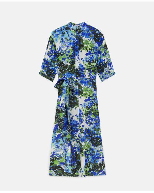 Stella McCartney オリビア シルク ドレス Blue