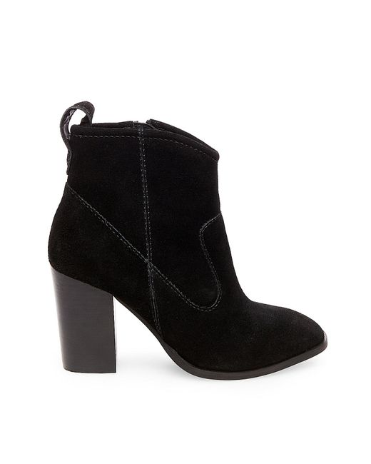 steve madden glorria suede ankle boots in black save 20