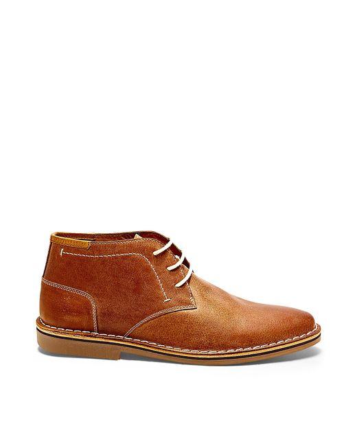 Steve Madden | Brown Hestonn Leather Desert Boots for Men | Lyst