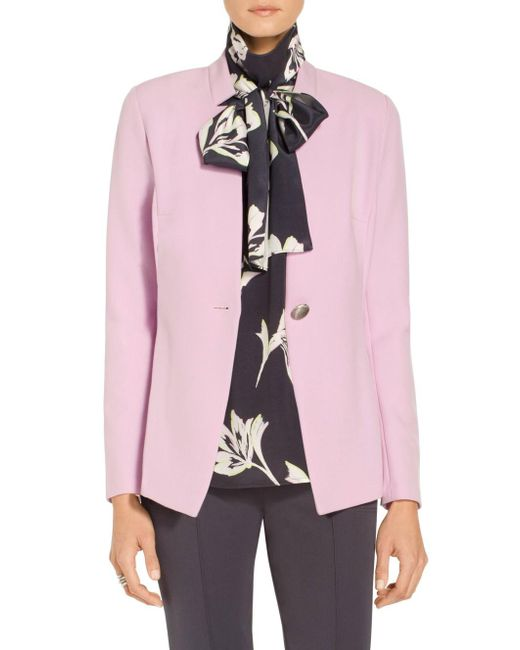 St. John - Pink Sale Bella Double Weave Notch Collar Jacket - Lyst