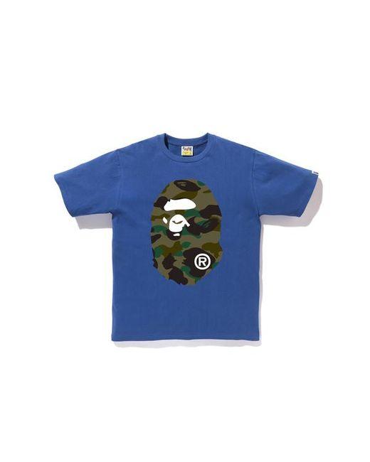0b625266 A Bathing Ape 1st Camo Ape Head Tee Blue in Blue for Men - Lyst