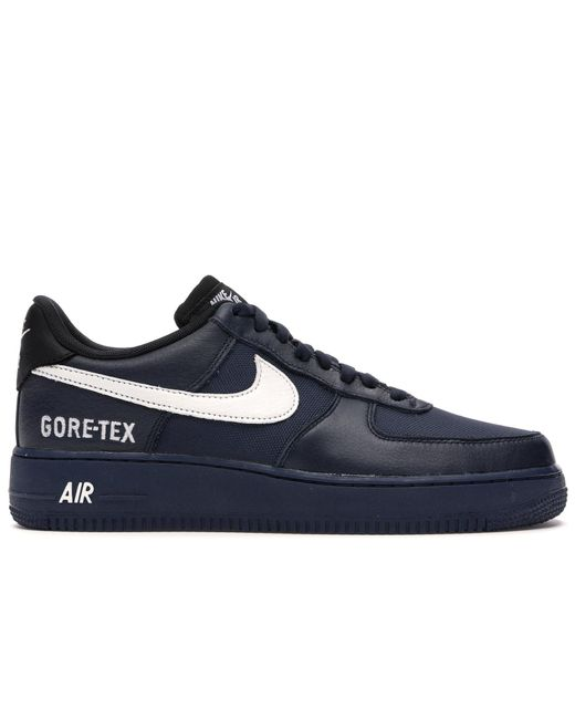 Nike Black Air Force 1 Low Gore-tex Obsidian for men