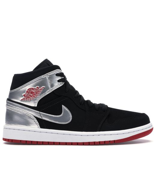 Nike Black Air 1 Mid 'johnny Kilroy' Shoes - Size 7 for men