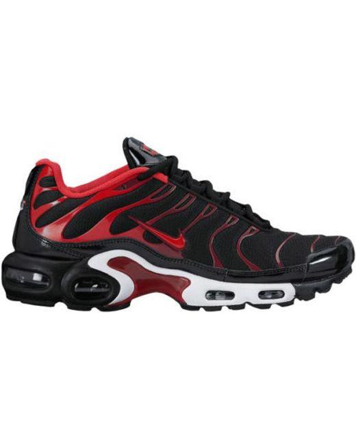 Nike Air Max Plus Black University Red for men