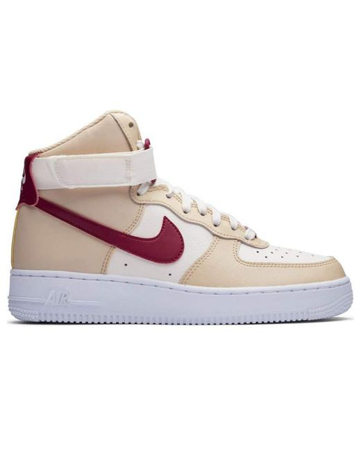 Nike White Air Force 1 High Noble Red (w)