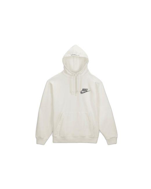 Supreme White Nike Half Zip Hooded Sweatshirt for men