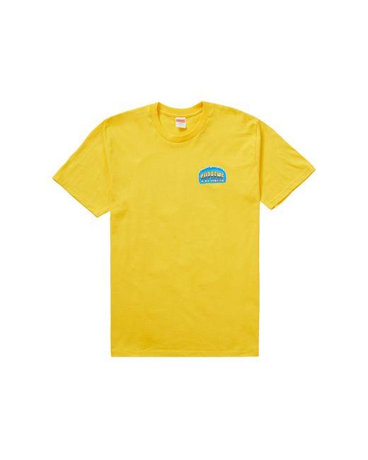 メンズ Supreme Chrome Tee Yellow